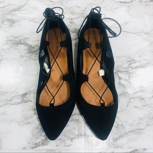 Mossimo Supply Co. Black Lace-Up Flats Size 11
